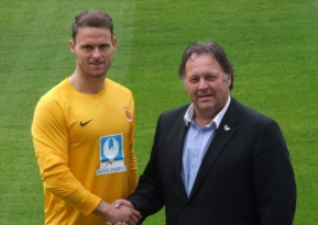 Being closer to his family and not wanting to play in the Conference took Northern Ireland and former Cheltenham goalkeeper, Trevor Carson to the Pools. Image courtesy of Hartlepool Mail